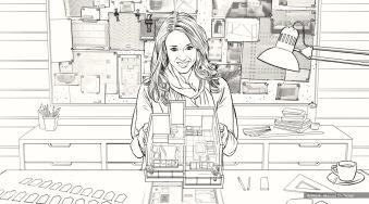 Nestle, Design Hands, BW storyboard frame 6 - Casanova