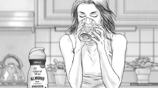 Nestle, Natural Bliss, Yoga, BW storyboard frame 7 - Casanova