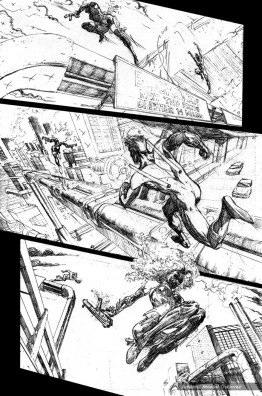 Nightwing: Hella, page 7 (pencils)