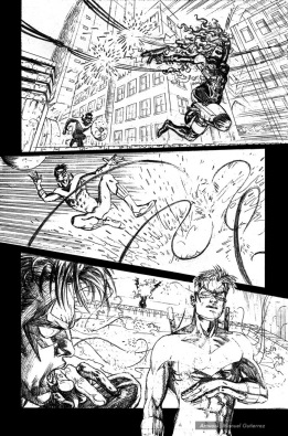 Nightwing: Hella, page 9 (pencils)