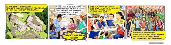 Learning Hero, Normandy Elementary School, comic strip