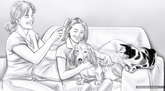 Petsmart, healthy life, BW storyboard frame 2 - Bernstein-Rein