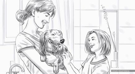 Petsmart, healthy life, BW storyboard frame 5 - Bernstein-Rein
