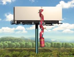Red Tape: Billboard, color key frame 2 - Rinehart Company