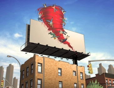 Red Tape: Billboard, color key frame - Rinehart Company