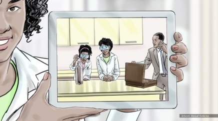 AT&T, Science Project, color animatic frame 4 - Sanders/Wingo