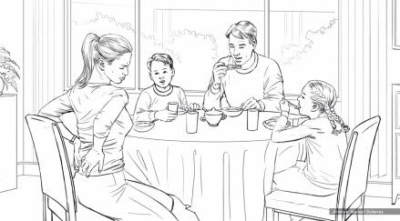 Sleep Experts, Breakfast, BW storyboard frame 1 - Proof Ad