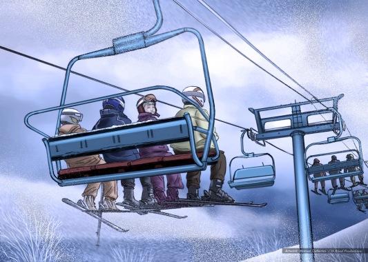 Ski Lift seat warmers