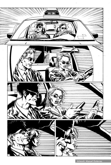 "The Punisher #11, ""Taxi Wars"", page 6"
