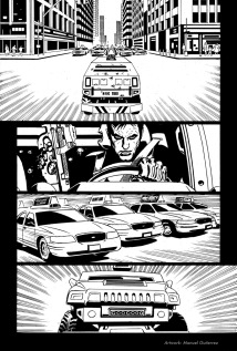 "The Punisher #12, ""Taxi Wars"", page 17"