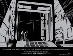Winston Salem Simphony, John Williams: The Sequel, Darth Vader poster