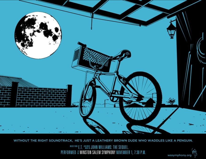 Winston Salem Simphony, John Williams: The Sequel, E.T. poster